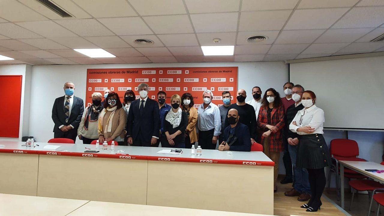 Representantes de Panasef y CCOO que han participado en el desarrollo del convenio colectivo.